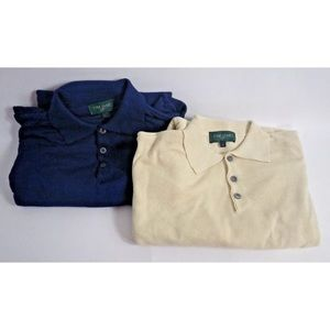 Tom James Men's Polo Sweaters Made in Italy Sz XL